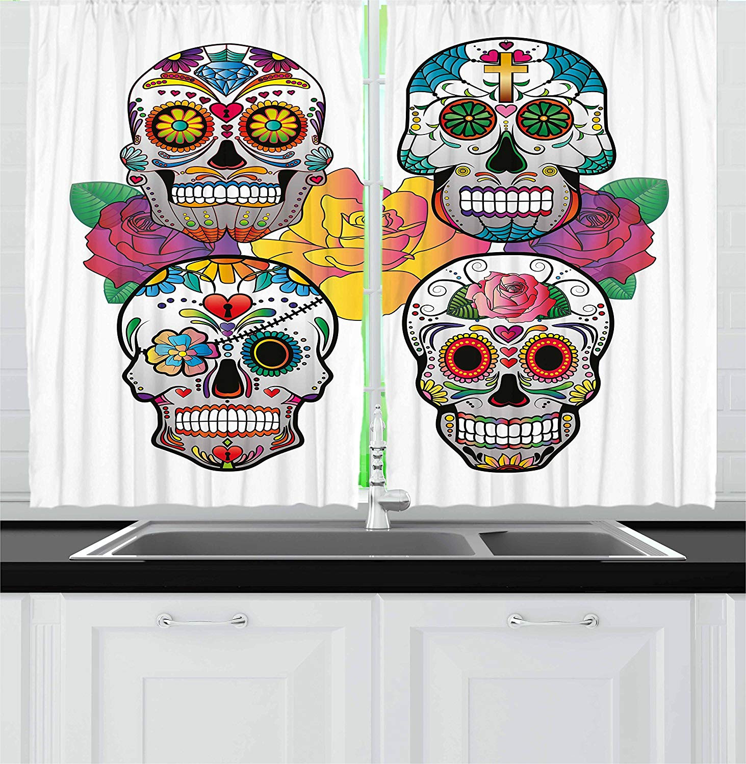 Best ideas about Sugar Skull Kitchen Decor . Save or Pin Sugar Skull Decor Kitchen Curtains My Sugar Skulls Now.