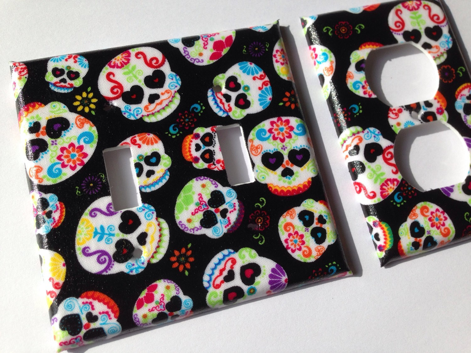 Best ideas about Sugar Skull Kitchen Decor . Save or Pin Sugar Skull Double Light Switch Plate Cover Day The Dead Now.