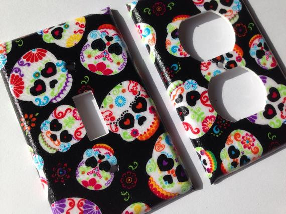 Best ideas about Sugar Skull Kitchen Decor . Save or Pin Sugar Skull Single Light Switch Plate Cover Day The Dead Now.
