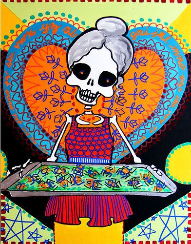 Best ideas about Sugar Skull Kitchen Decor . Save or Pin Cookie Kitchen Decor Art Day of the Dead Grandma Sugar Now.