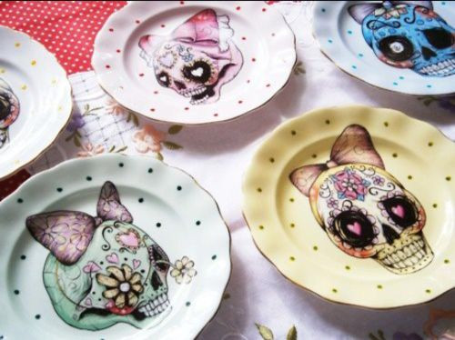 Best ideas about Sugar Skull Kitchen Decor . Save or Pin sugar skulls plates Kitchen decor Pinterest Now.