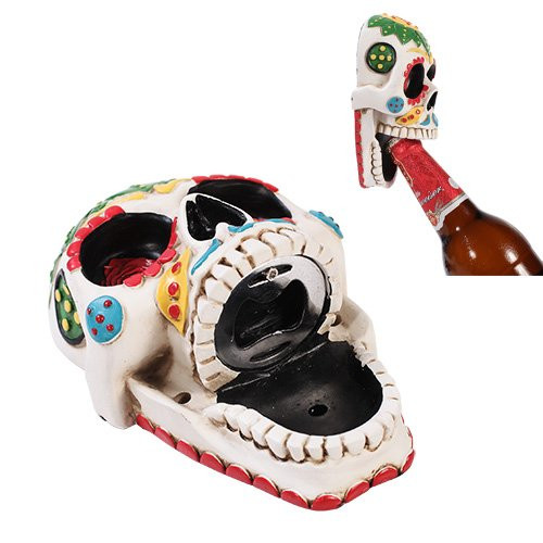 Best ideas about Sugar Skull Kitchen Decor . Save or Pin Day of The Dead White Sunflower Sugar Skull Wall Bottle Now.