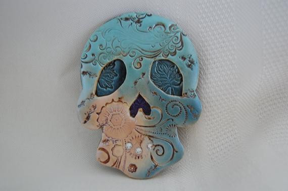 Best ideas about Sugar Skull Kitchen Decor . Save or Pin skull magnets sugar skulls day of the dead dia de los Now.