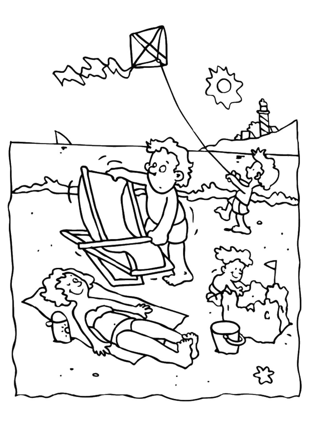 Summer Coloring Sheet  Summer Holiday Coloring Pages