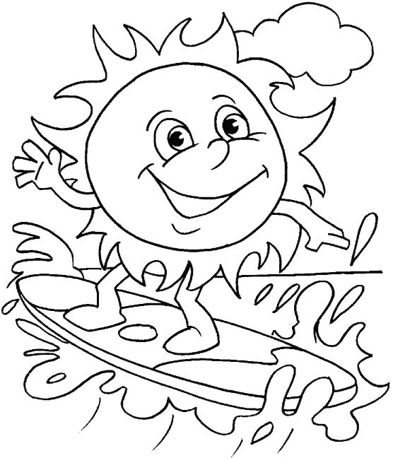 Summer Coloring Sheet  Download Free Printable Summer Coloring Pages for Kids
