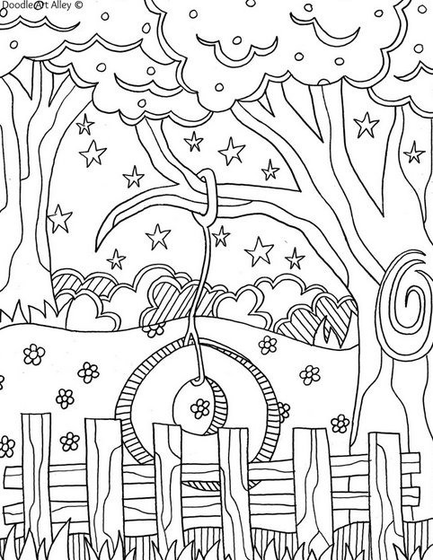 Summer Coloring Sheet  Summer Coloring Pages