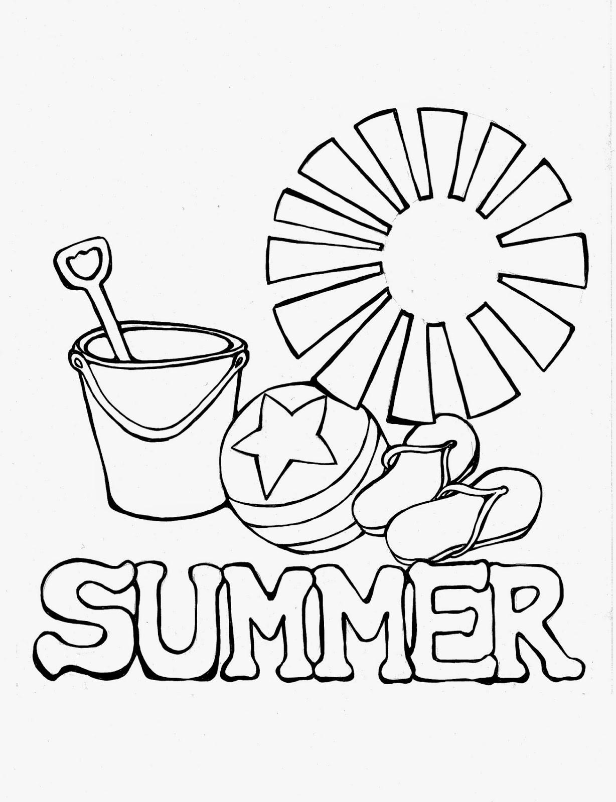 Summer Coloring Sheet