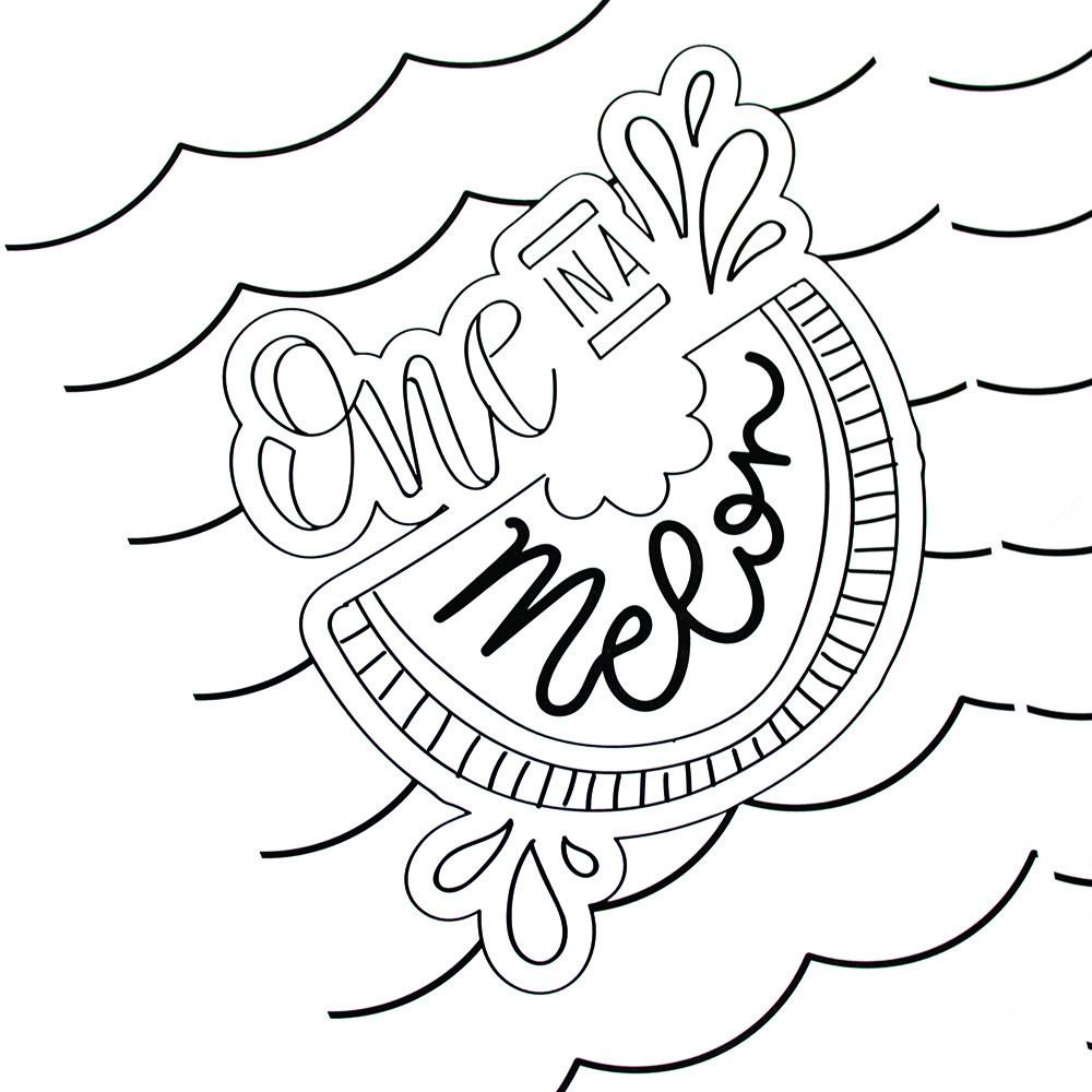 Summer Coloring Sheet  Hand Lettered Summer Coloring Pages Printable Crush
