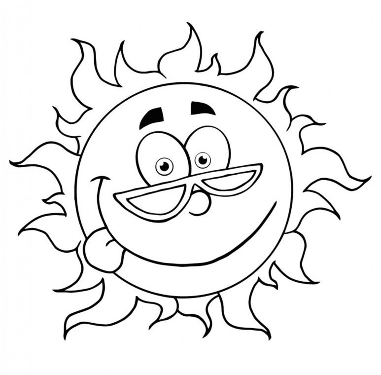 Summer Coloring Sheet  Free Summer Coloring Pages Printable
