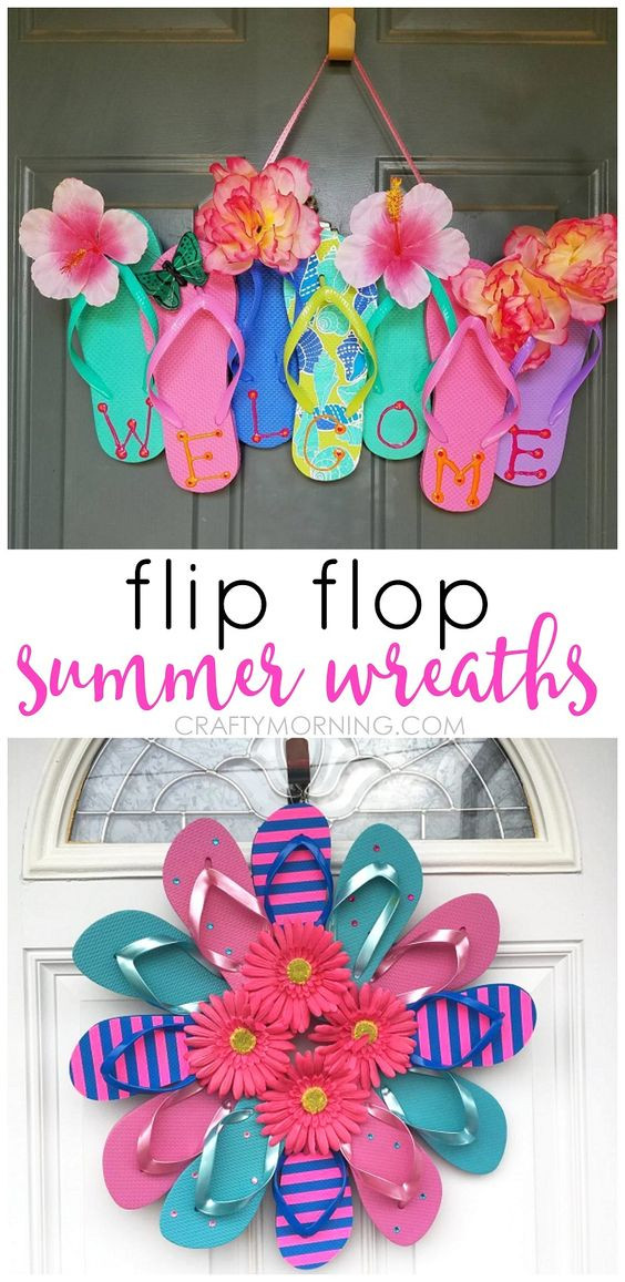 Best ideas about Summer Crafts Adults . Save or Pin Flip Flop Wreaths for Summer Now.