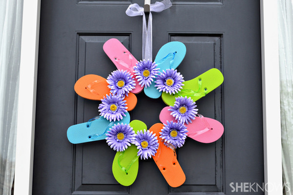 Best ideas about Summer Crafts Adults . Save or Pin Fun flip flop crafts for kids Now.