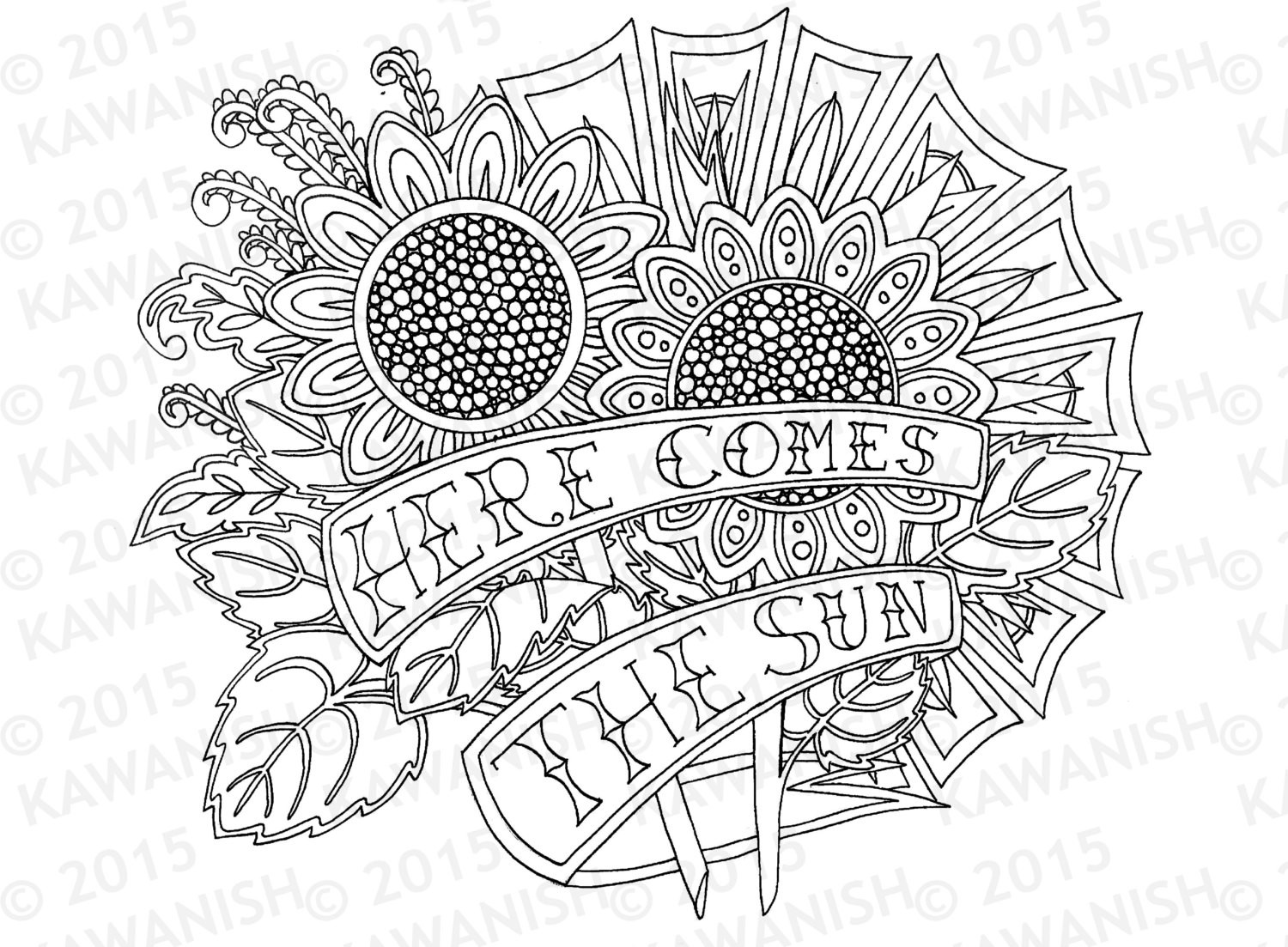 Sunflower Coloring Pages For Adults  The gallery for Sunflowers Coloring Pages For Adults
