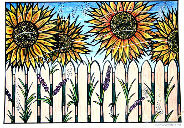 Sunflower Coloring Pages For Adults  Free Flower Coloring Pages for Adults Moms and Crafters