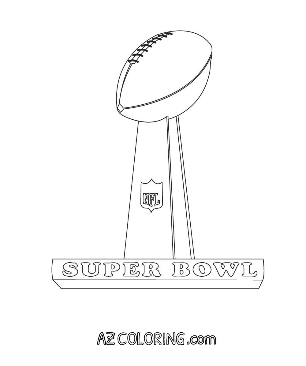 Super Bowl Coloring Pages For Kids  Superbowl Coloring Pages Coloring Home