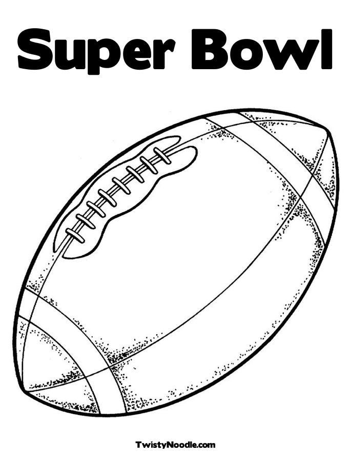 Super Bowl Coloring Pages For Kids  Free Superbowl Coloring Pages Coloring Home