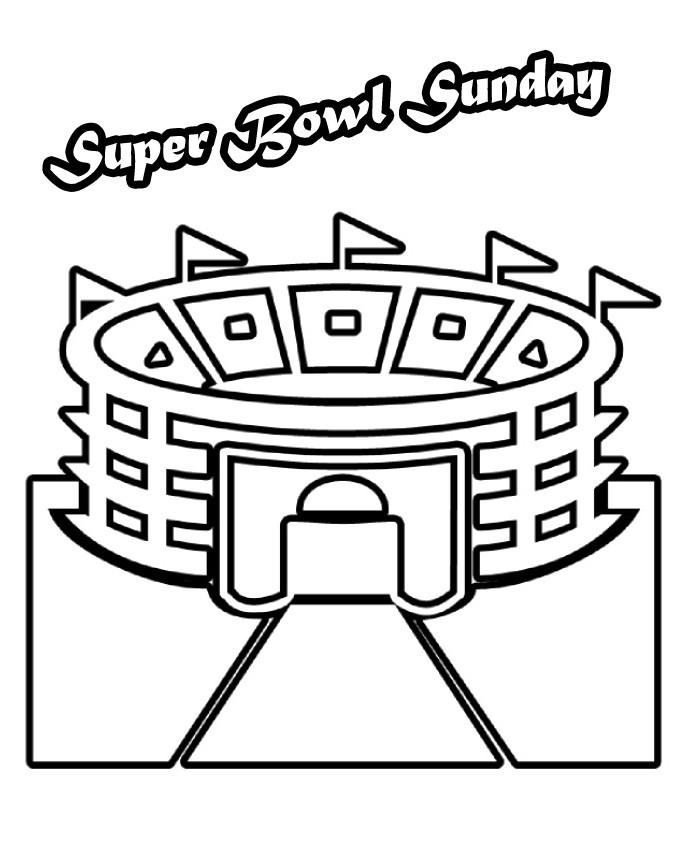 Super Bowl Coloring Pages For Kids  Super Bowl Coloring Pages AZ Coloring Pages