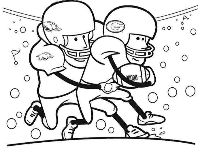 Super Bowl Coloring Pages For Kids  25 best images about superbowl on Pinterest