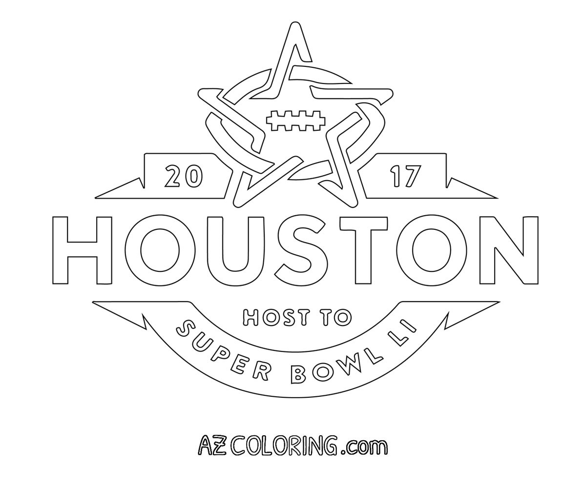 Super Bowl Coloring Pages For Kids  Super Bowl 2017 Coloring Pages AZ Coloring Pages