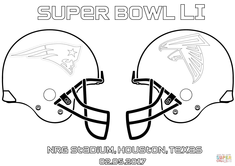 Super Bowl Coloring Pages For Kids  Super Bowl LI New England Patriots vs Atlanta Falcons