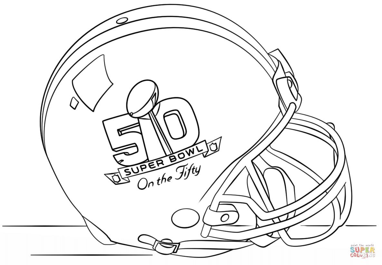 Super Bowl Coloring Pages  Super Bowl 2016 Helmet coloring page