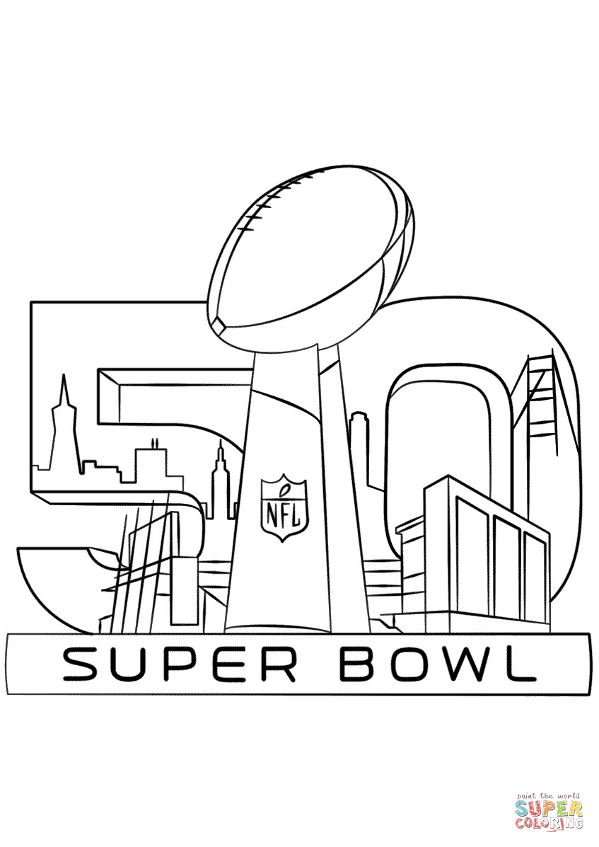 Super Bowl Coloring Pages  Super Bowl 50 Coloring Pages Coloring Home