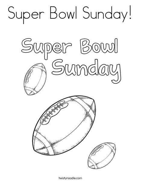 Super Bowl Coloring Pages  Super Bowl Sunday Coloring Page Twisty Noodle
