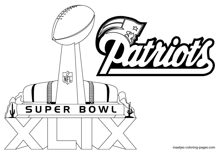 Super Bowl Coloring Pages  Superbowl 2015 Coloring Pages