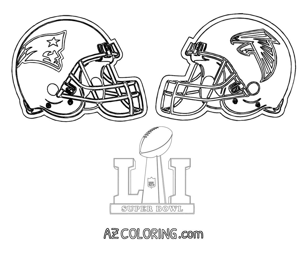 Super Bowl Coloring Pages  Super Bowl 2017 Coloring Pages AZ Coloring Pages