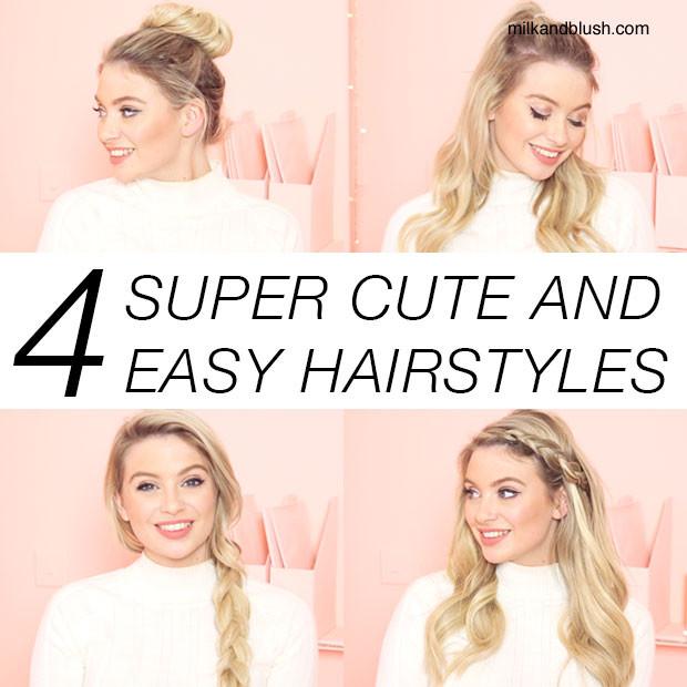 Super Cute And Easy Hairstyles  Super Cute Quick And Easy Hairstyles HairStyles