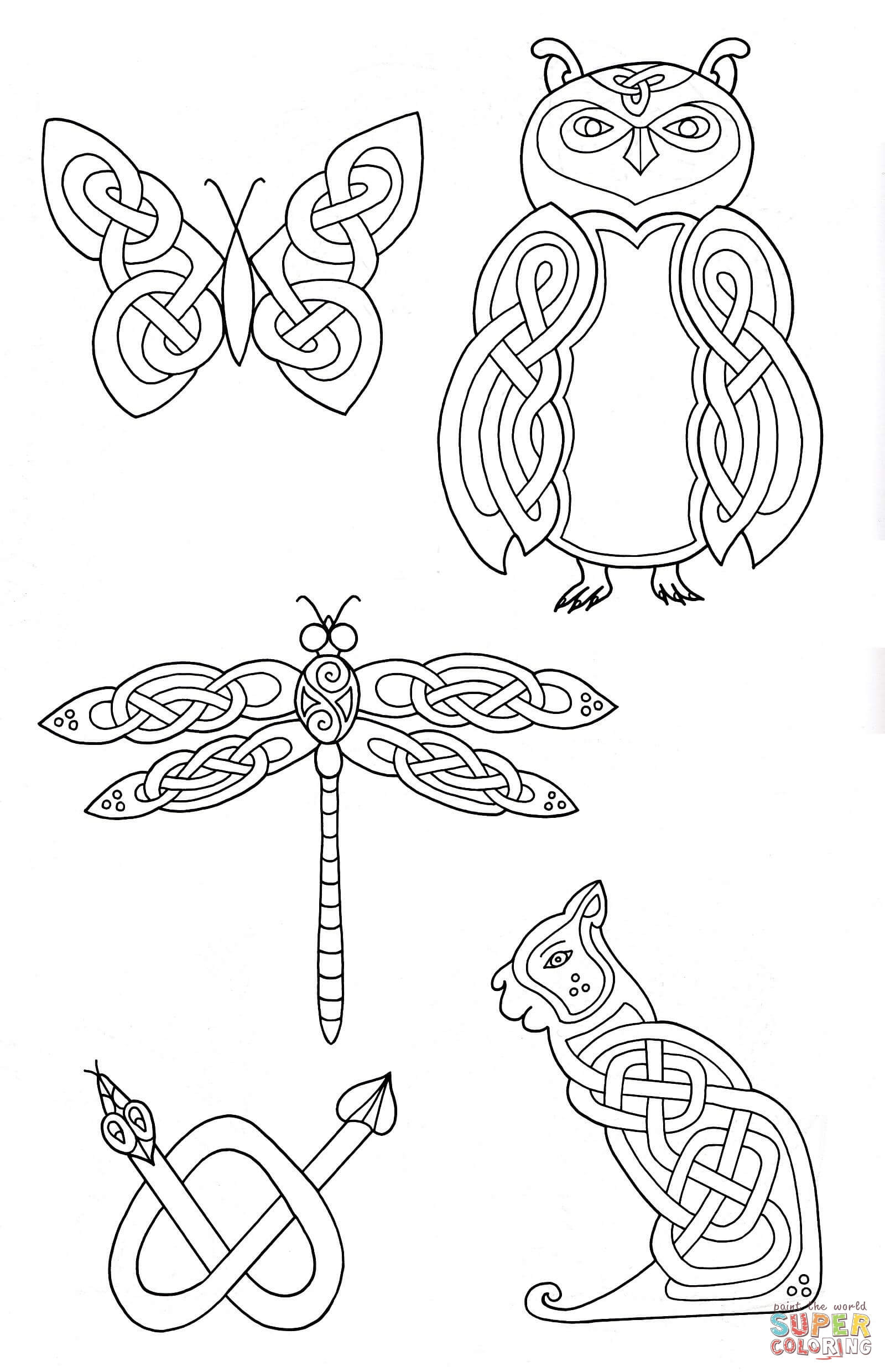 Super Easy Viking Foot Ball Super Bull Coloring Pages For Boys  Celtic Animals Designs 2 coloring page