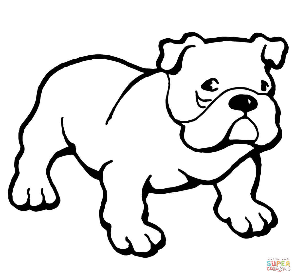 Super Easy Viking Foot Ball Super Bull Coloring Pages For Boys  Bulldog coloring page