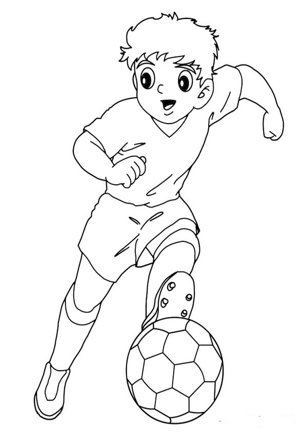Super Easy Viking Foot Ball Super Bull Coloring Pages For Boys  ausmalbilder fußball 8