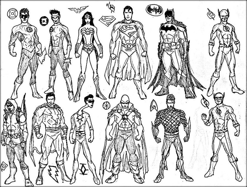 Super Hero Coloring Book Pages  Superhero Coloring Pages Color Zini