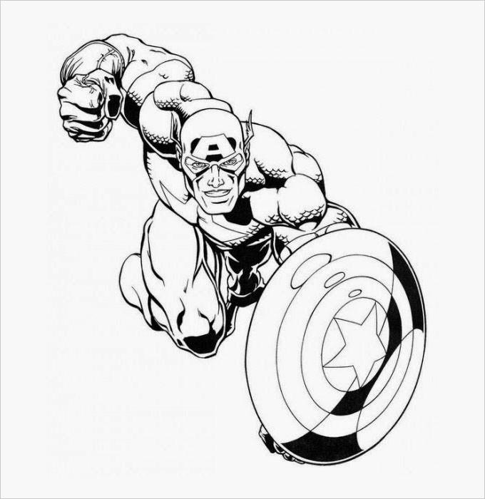 Super Hero Coloring Book Pages  Superhero Coloring Pages Coloring Pages