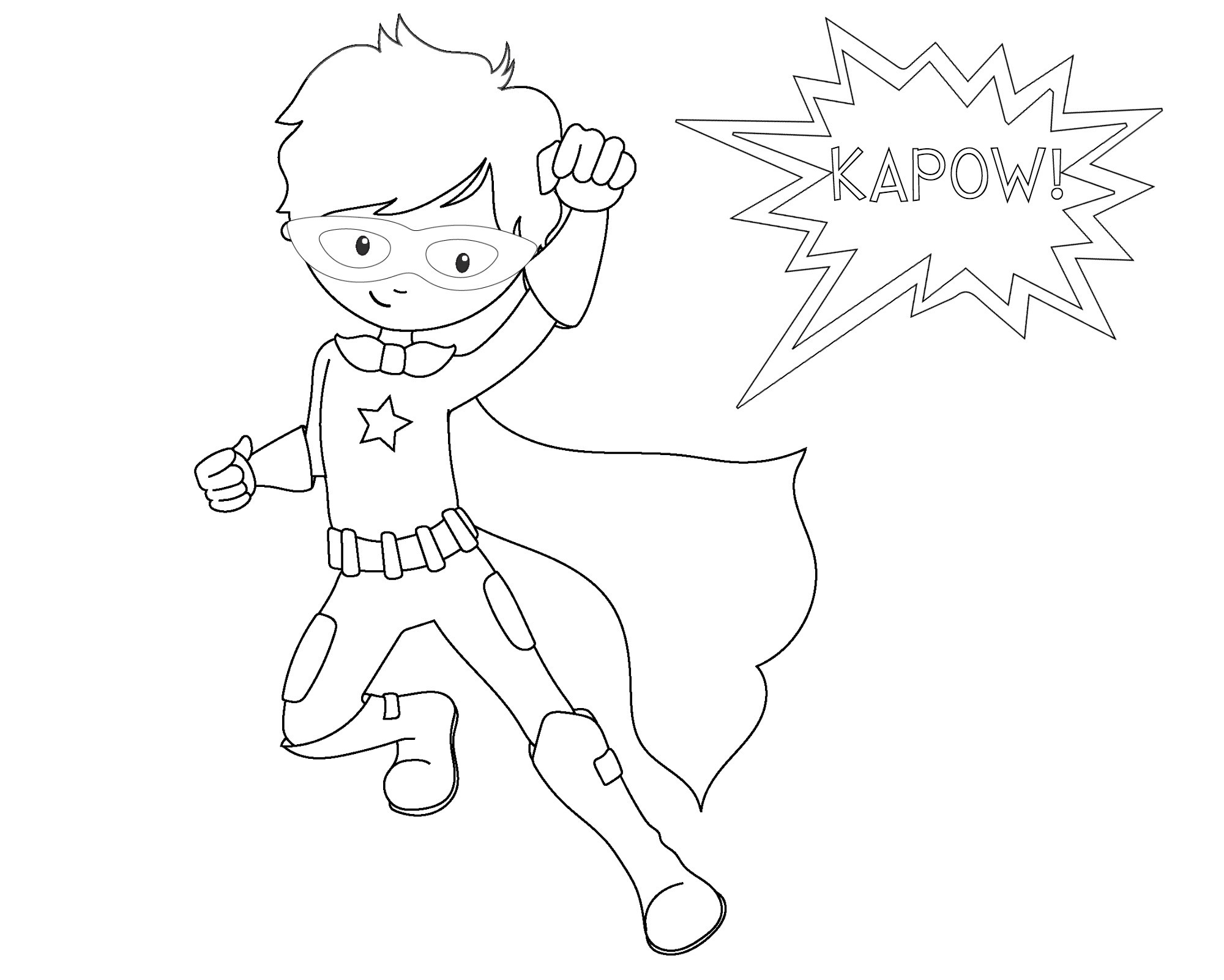 Super Hero Coloring Pages For Kids  Free Printable Superhero Coloring Sheets for Kids Crazy