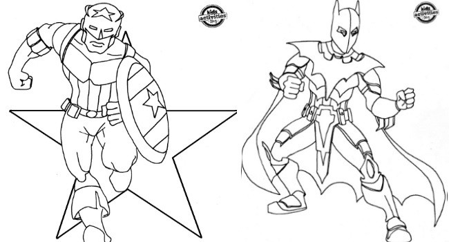 Super Hero Coloring Pages For Kids  Superhero Inspired Coloring Pages
