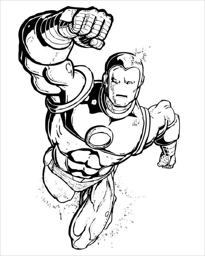 Super Hero Coloring Pages For Kids  Superhero Coloring Pages Coloring Pages