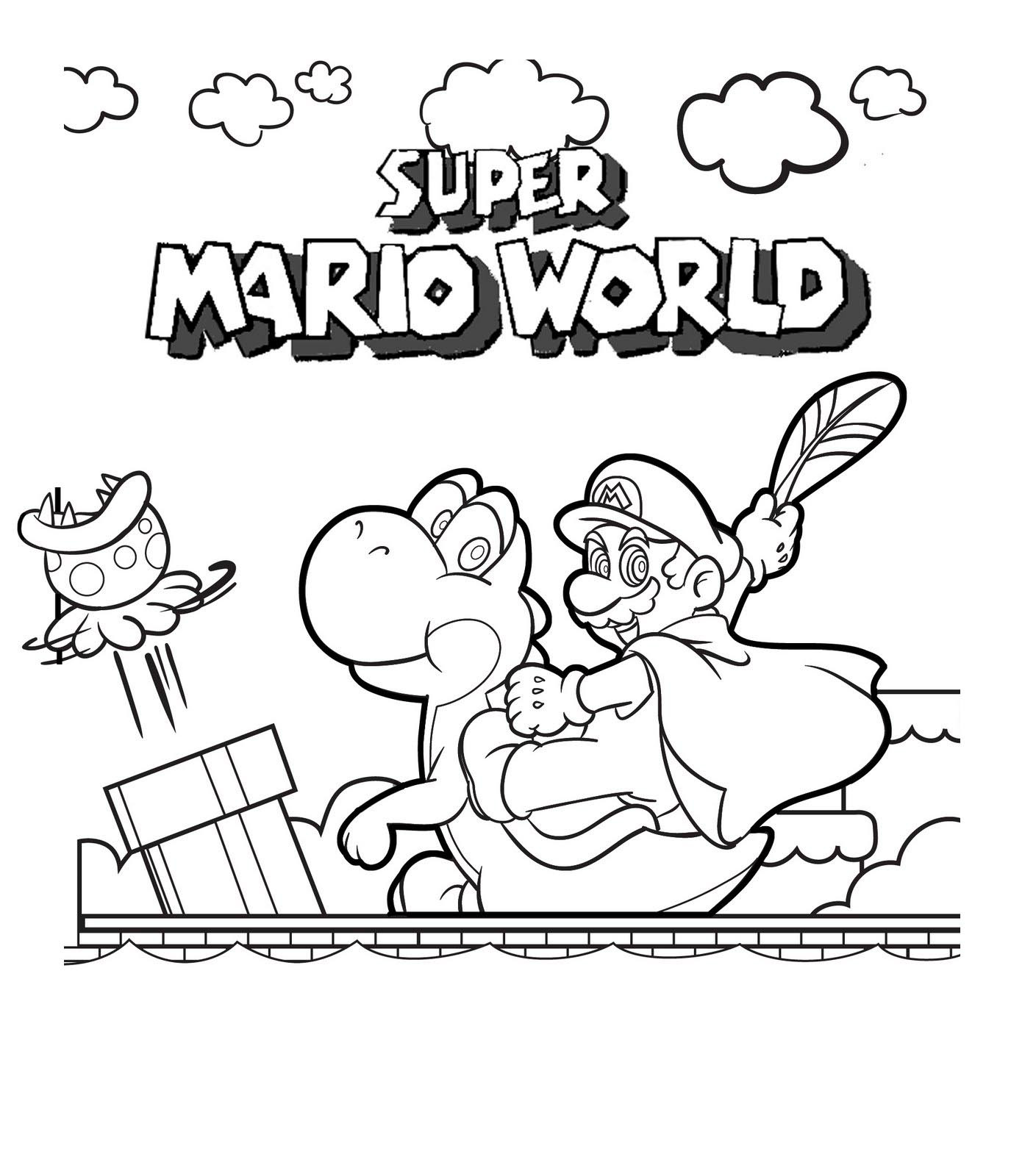 Super Mario Coloring Book  Free Printable Mario Coloring Pages For Kids