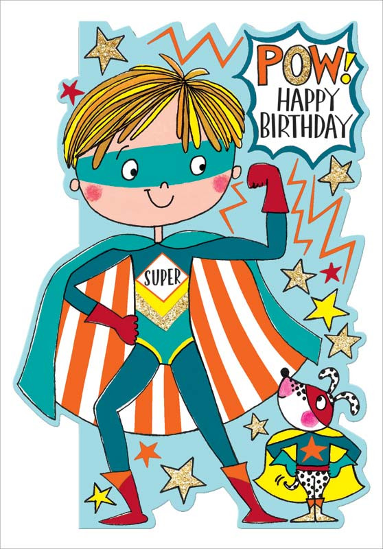 Best ideas about Superhero Birthday Card . Save or Pin Rachel Ellen Designs Superhero Birthday Card DAR012 Now.