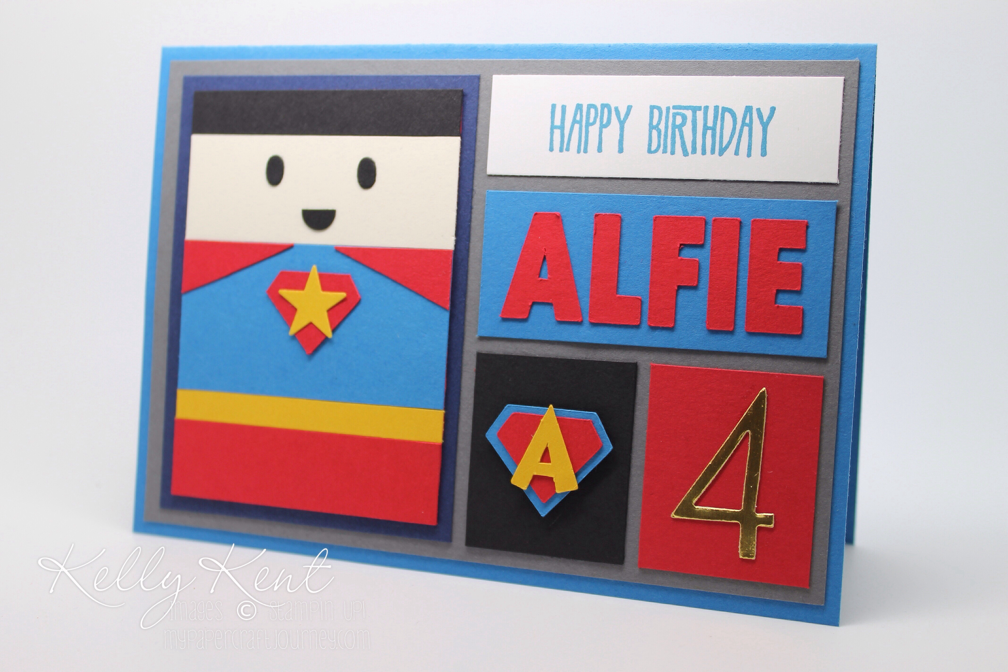 Best ideas about Superhero Birthday Card . Save or Pin Superhero Super Awesome Block Art Birthday cards – kelly kent Now.