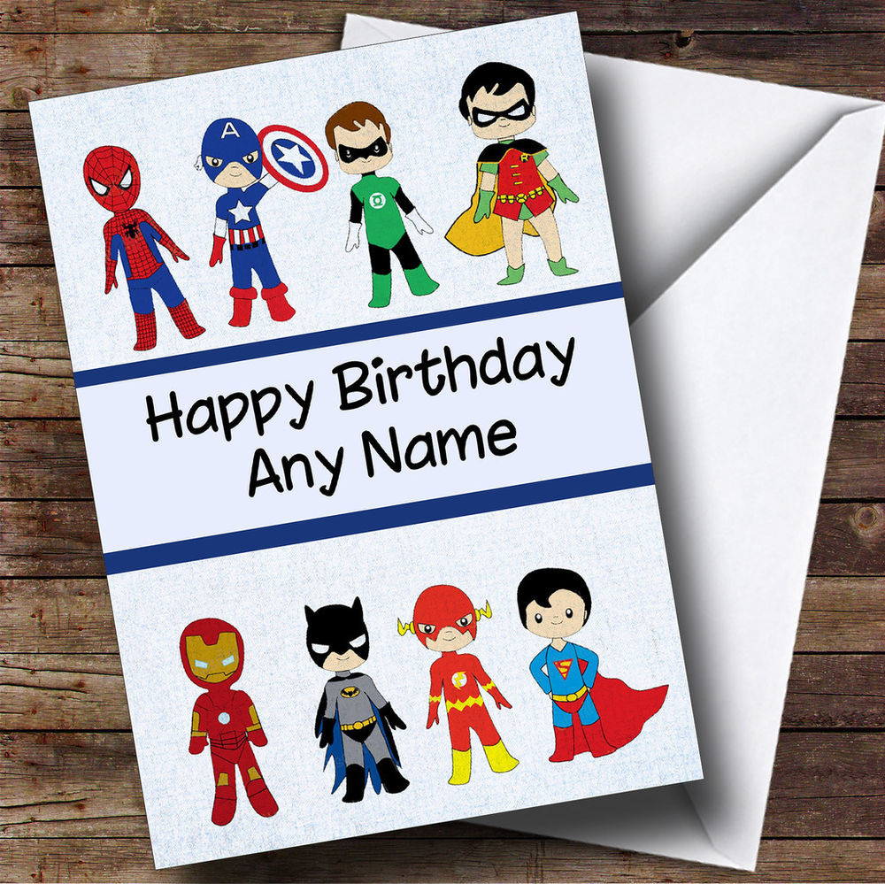 Best ideas about Superhero Birthday Card . Save or Pin Superhero Collection Personalised Children s Birthday Now.