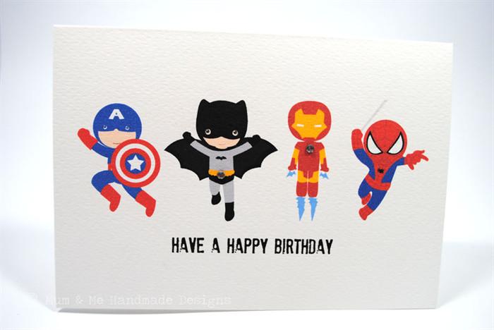 Best ideas about Superhero Birthday Card . Save or Pin Happy Birthday Card Boy 4 Action Superheroes HBC119 Now.