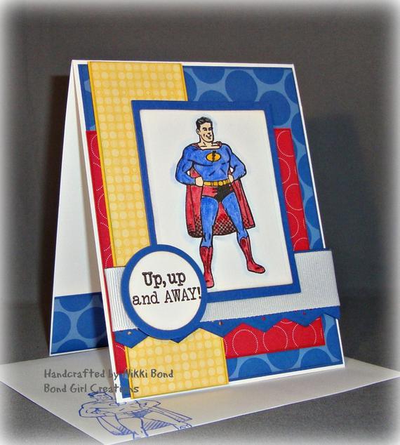 Best ideas about Superhero Birthday Card . Save or Pin Super Hero Birthday Handmade Super Hero by BondGirlCreations26 Now.