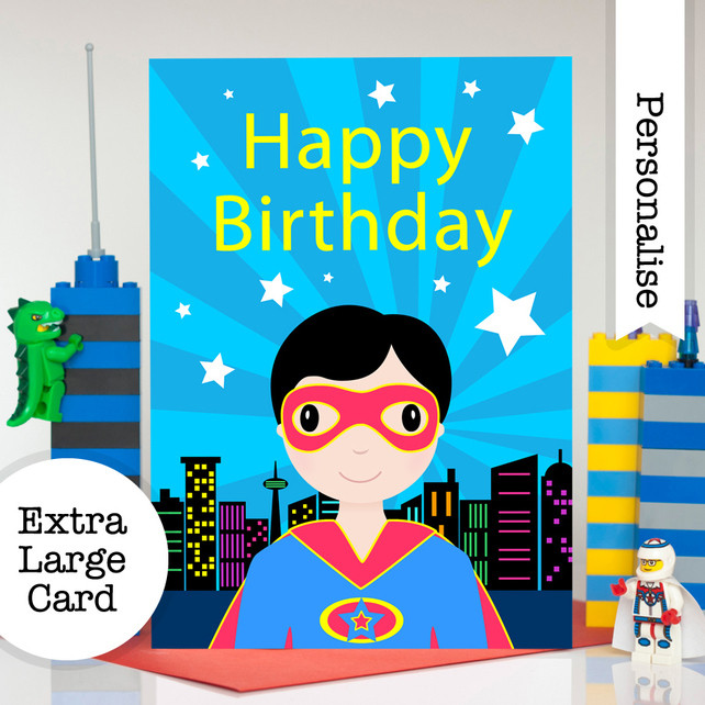 Best ideas about Superhero Birthday Card . Save or Pin Superhero Birthday Card Personalised Boys A5 Folksy Now.