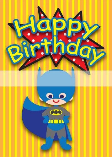 Best ideas about Superhero Birthday Card . Save or Pin Superhero 5 x 7 inch Birthday Cards PDF Digital File Now.