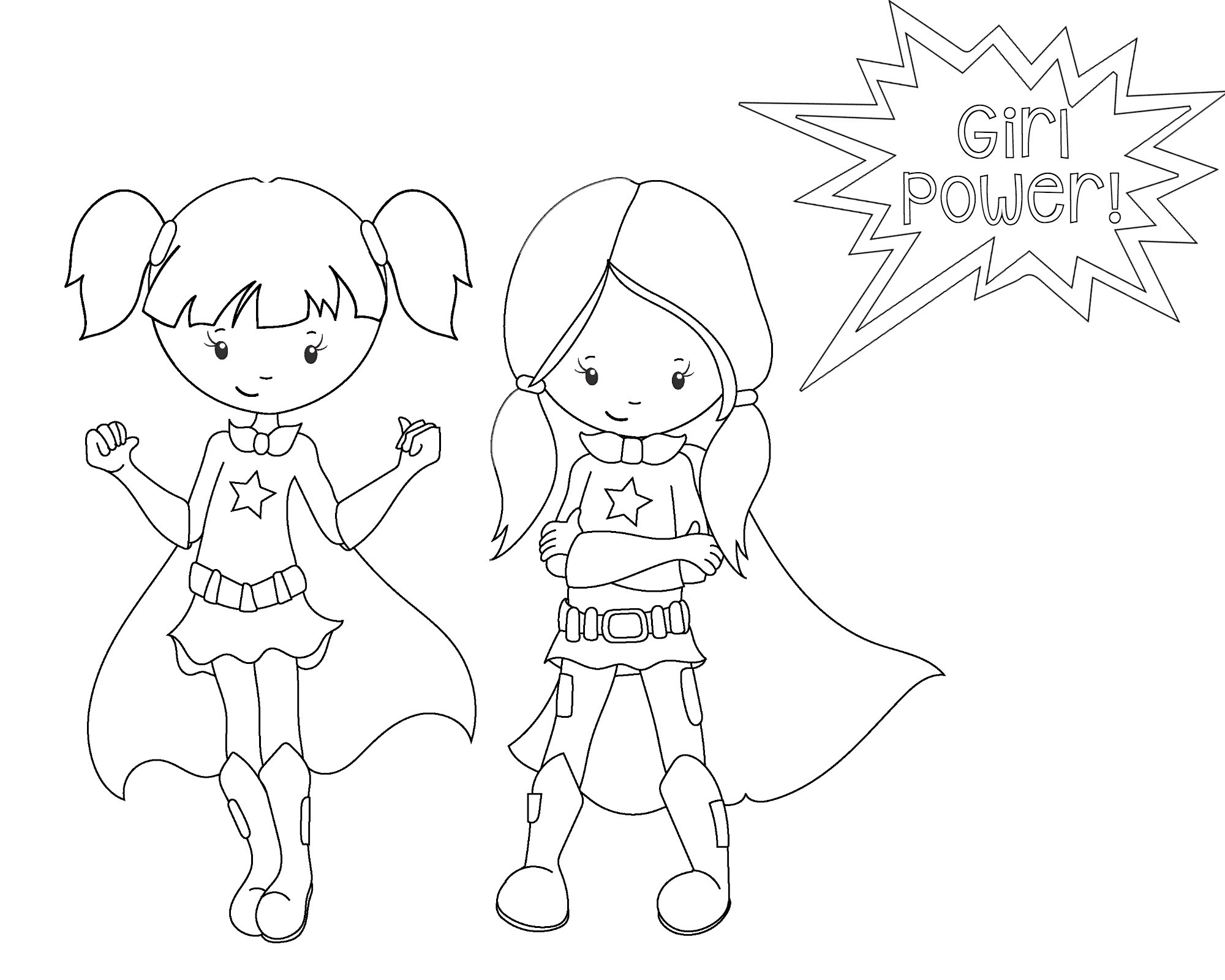 Superhero Coloring Books  Superhero Coloring Pages Crazy Little Projects