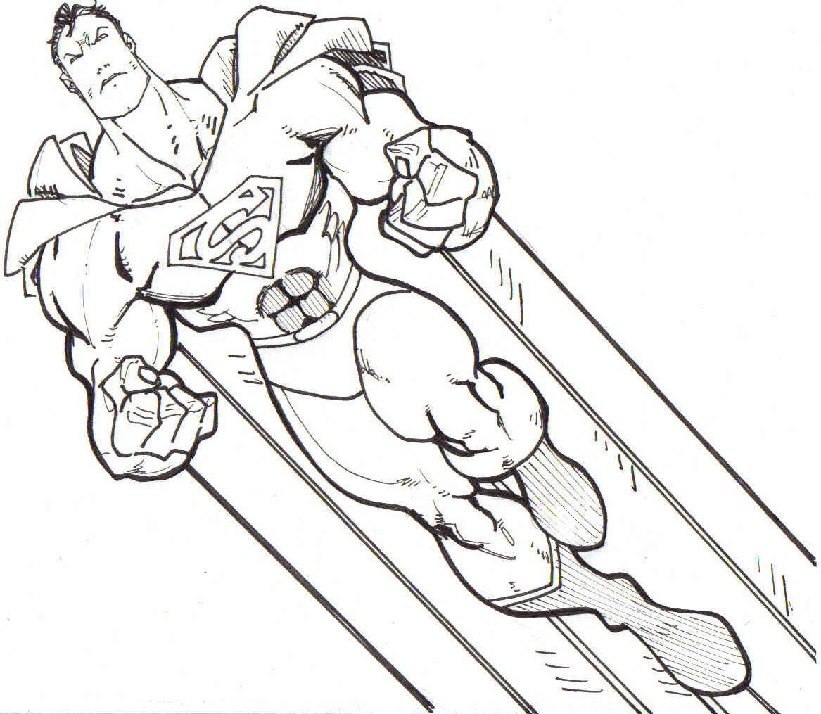 Superman Coloring Pages For Kids  Free Printable Superman Coloring Pages For Kids
