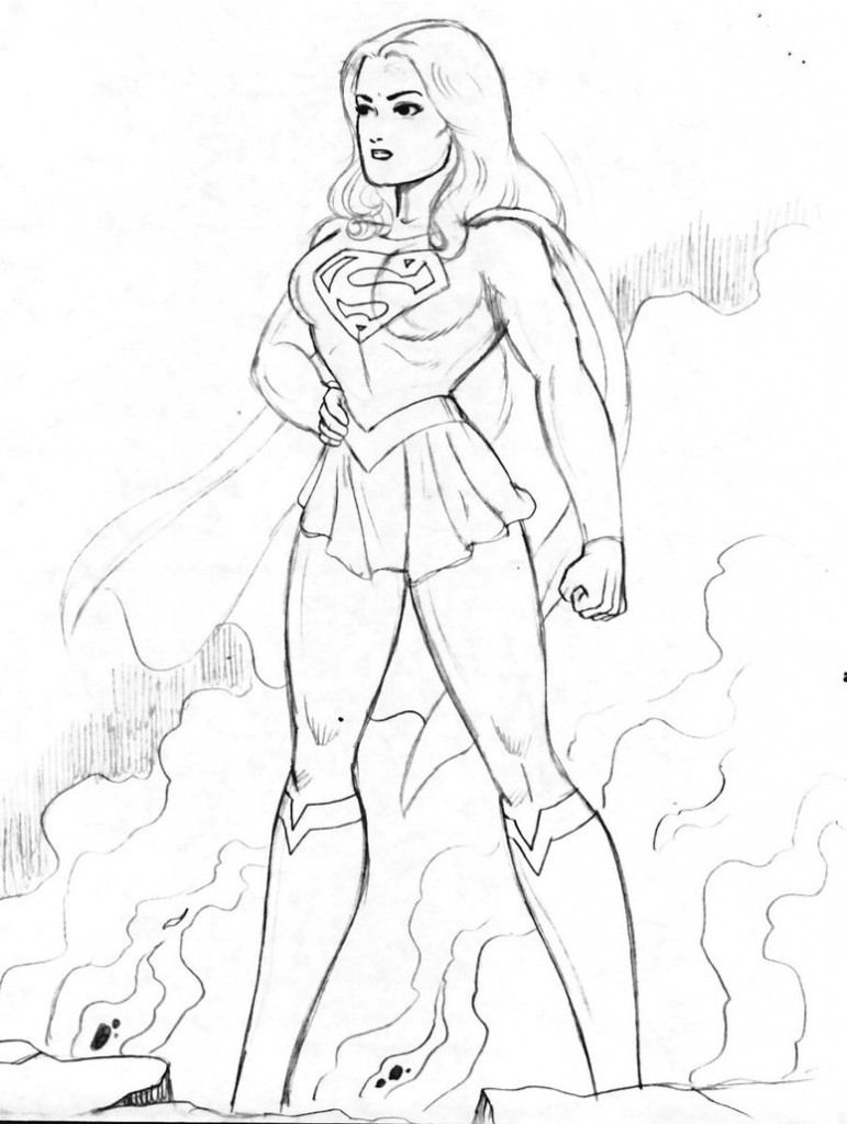 Superwoman Coloring Pages  Supergirl Coloring Pages Coloring Home