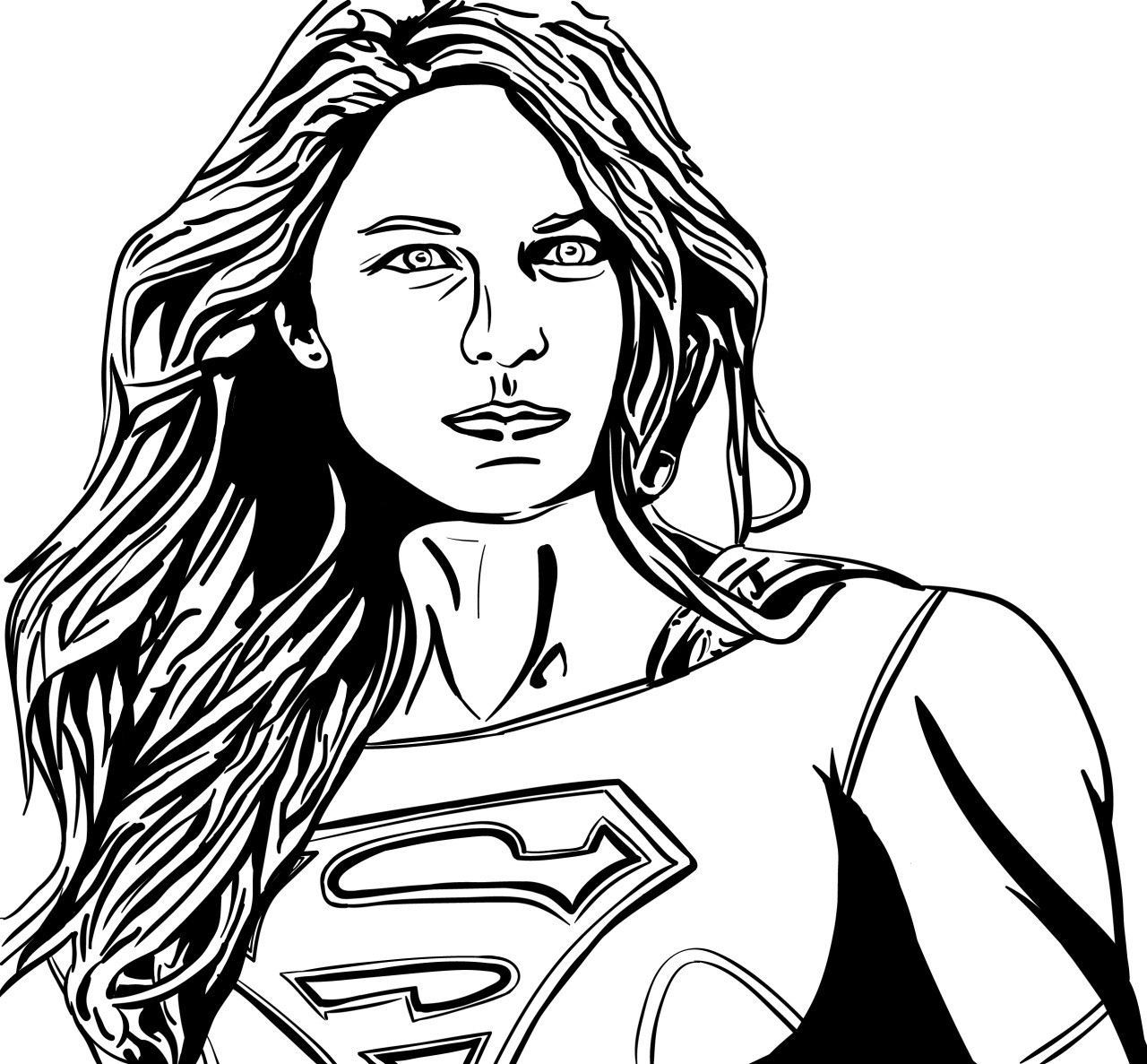 Superwoman Coloring Pages  Supergirl Coloring Pages Best Coloring Pages For Kids
