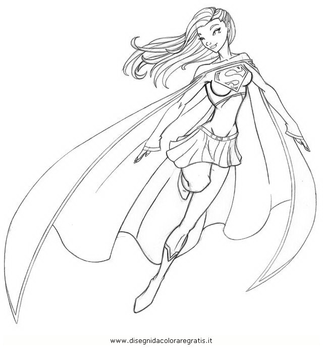 Superwoman Coloring Pages  supergirl coloring pages